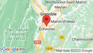 Carte de localisation du centre de contrôle technique Echirolles Grugliasco