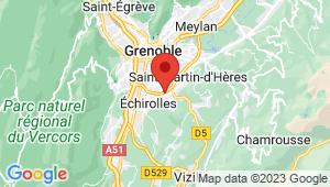 Carte de localisation du centre de contrôle technique EYBENS