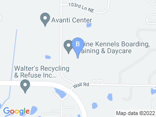 Map of Blaine Kennels Dog Boarding options in Minneapolis | Boarding
