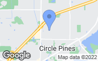 Map of Circle Pines, MN