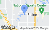 Map of Blaine, MN