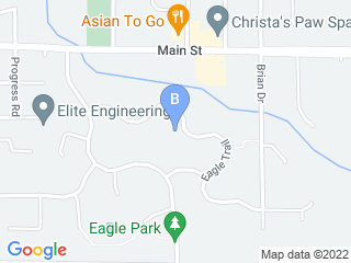Map of MJ The Critter Sitter Pet Sitting Dog Boarding options in Centerville | Boarding