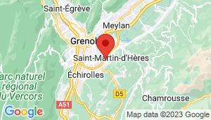 Carte de localisation du centre de contrôle technique ST MARTIN D'HERES