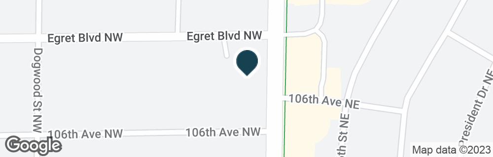 Google Map of10686 UNIVERSITY AVE NW