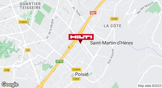 Get directions to Hilti Store - Grenoble / Saint Martin d'Hères (ZI du Beal)
