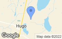 Map of Hugo, MN