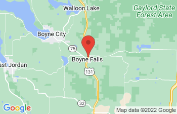 Map of Boyne Falls