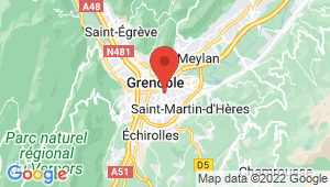 Carte de localisation du centre de contrôle technique Grenoble