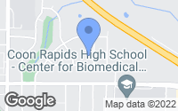 Map of Coon Rapids, MN