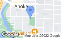 Map of Anoka, MN
