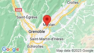 Carte de localisation du centre de contrôle technique MEYLAN
