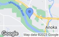 Map of Anoka, MN