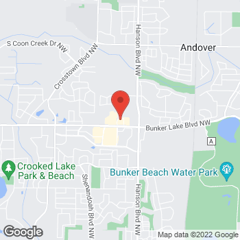 Map of Pizza Ranch at 13797 Jay Street NW, Andover, MN 55304