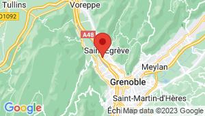 Carte de localisation du centre de contrôle technique Saint Egrève Les glairaux