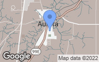 Map of Aurora, OR