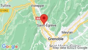 Carte de localisation du centre de contrôle technique SAINT EGREVE