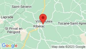 Carte de localisation du centre de contrôle technique RIBERAC