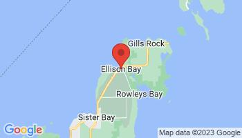 Map of Ellison Bay