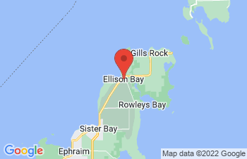 Map of Ellison Bay