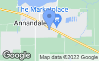 Map of Annandale, MN