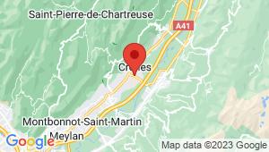 Carte de localisation du centre de contrôle technique CROLLES