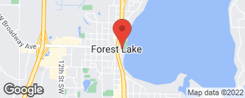 Map of 56 E Broadway Ave in Forest Lake
