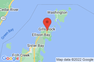Map of Gills Rock