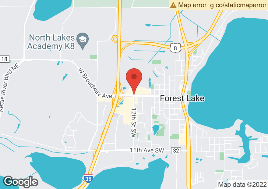 Google Map of 1207 W BROADWAY AVE