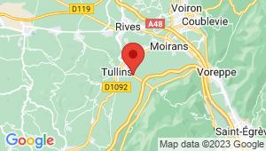 Carte de localisation du centre de contrôle technique TULLINS