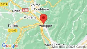 Carte de localisation du centre de contrôle technique VOREPPE