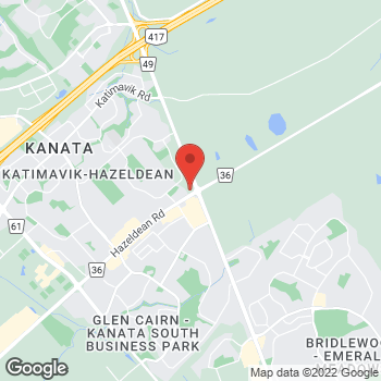 Map of Tim Hortons at 401 Hazeldean Rd, Ottawa, ON K2T 1T8