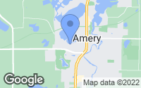Map of Amery, WI