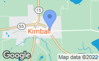 Map of Kimball, MN