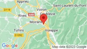 Carte de localisation du centre de contrôle technique MOIRANS