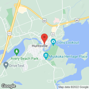 Map of Tim Hortons at 99 Main St E, Huntsville, ON P0A 1K0