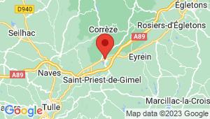 Carte de localisation du centre de contrôle technique SAINT PRIEST DE GIMEL