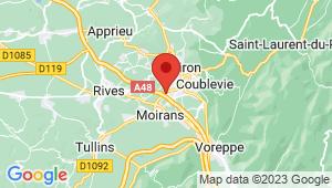 Carte de localisation du centre de contrôle technique ST JEAN DE MOIRANS