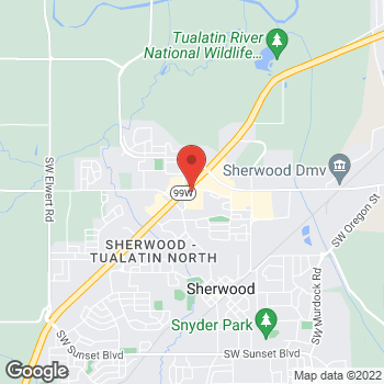 Map of Taco Bell at 16240 S.W. Langer Drive, Sherwood, OR 97140