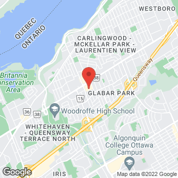 Map of Staples Ottawa-Fairlawn at 2148 Carling Avenue, Ottawa, ON K2A 1H1