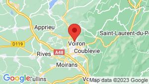 Carte de localisation du centre de contrôle technique VOIRON