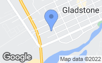 Map of Gladstone, OR