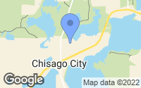 Map of Chisago City, MN