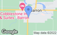 Map of Barron, WI
