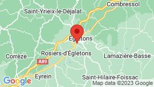 Carte de localisation du centre de contrôle technique EGLETONS