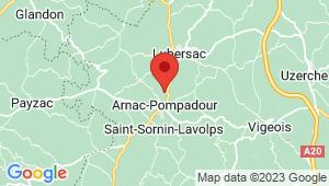 Carte de localisation du centre de contrôle technique ARNAC POMPADOUR