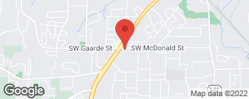 Map of 10580 SW McDonald St in Tigard