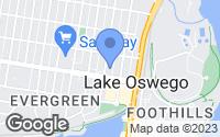 Map of Lake Oswego, OR