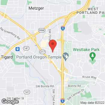 Map of Bharathi D Myneni, BDS at 7095 SW Gonzaga Street, Tigard, OR 97223
