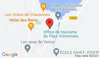 Départ devant l'office de Tourisme de Charavines 38850 Charavines