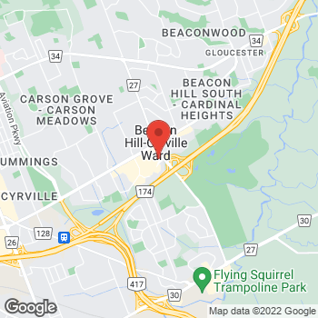 Map of Tim Hortons at 1150 Blair Rd, Gloucester, ON K1B 3K7
